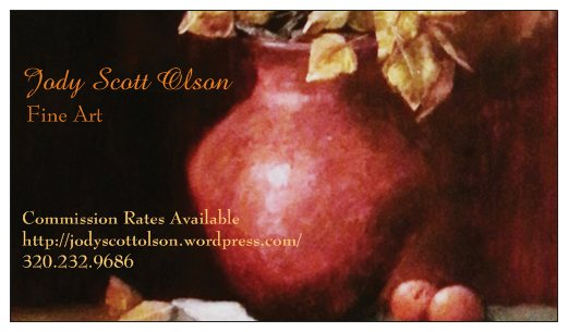 My Very First Artist Business Card:)